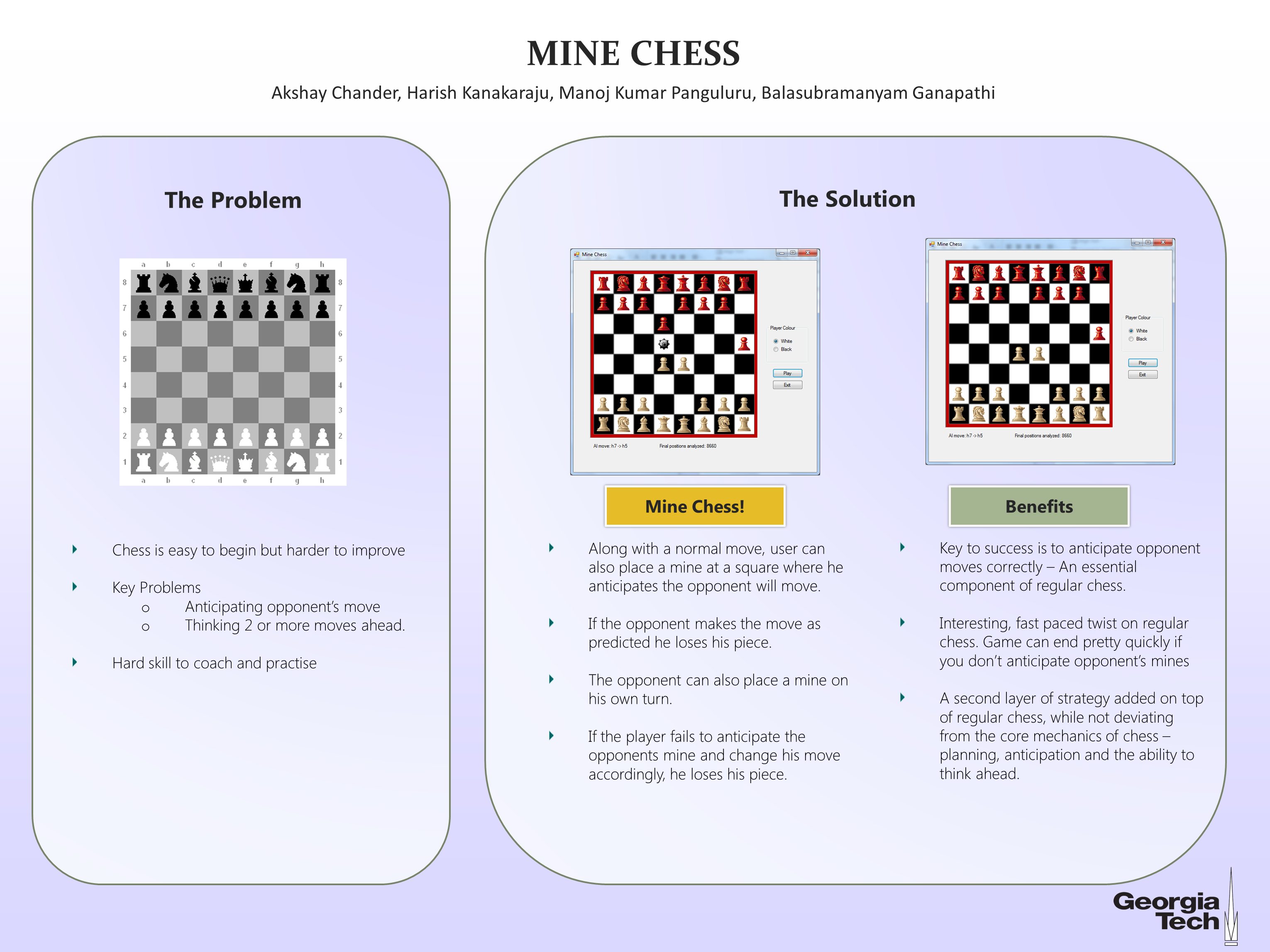 Mine Chess Poster